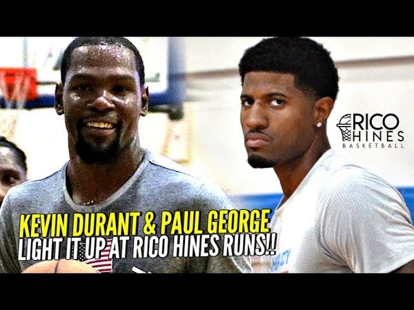 Kevin Durant Paul George LIGHT IT UP at Rico Hines Private Runs!! Warriors Trio Looking Nice!