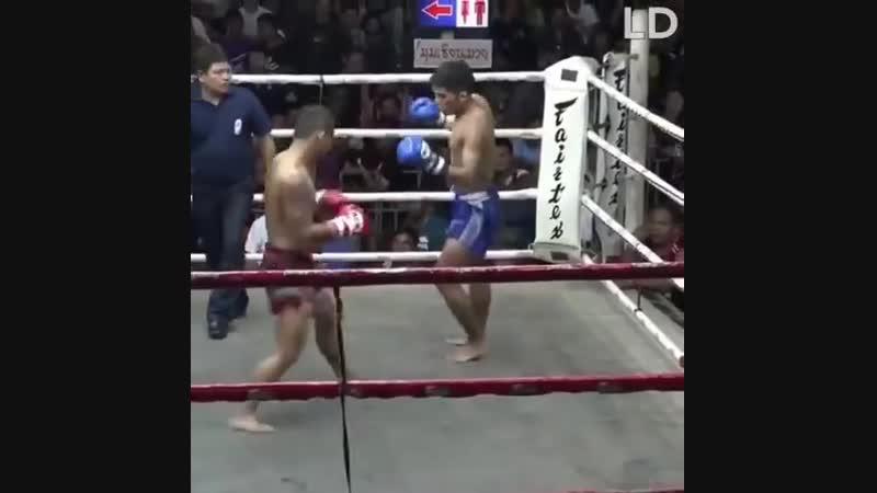 муай-тай, красивый бой в тайской маенере