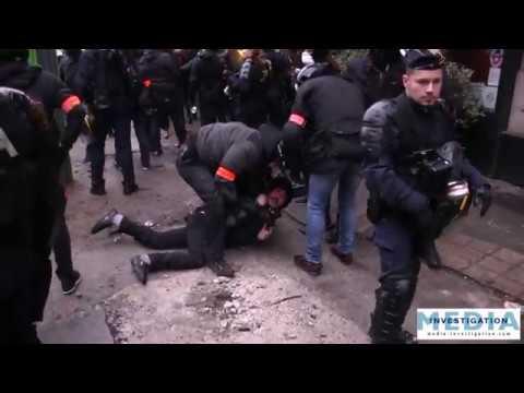 Gilets jaunes ACTE 11 Un homme fuit la police et se fait violemment arrêtè par la BAC