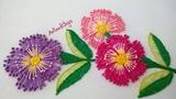 Hand Embroidery: Pistil stitch flowers | Bordado a mano: Flores en puntada pistilo | Artesd'Olga