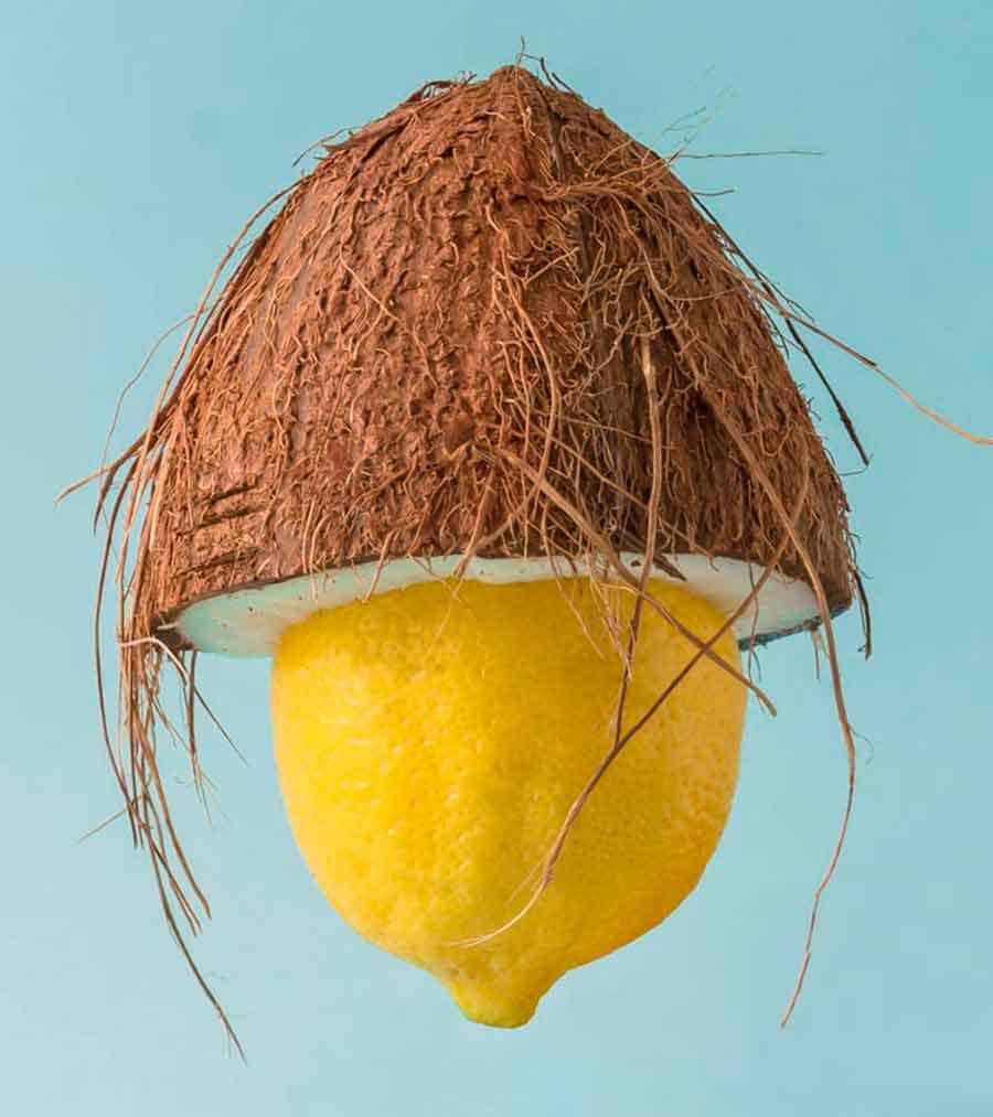 Статья - Кокосовое масло и лимон для волос