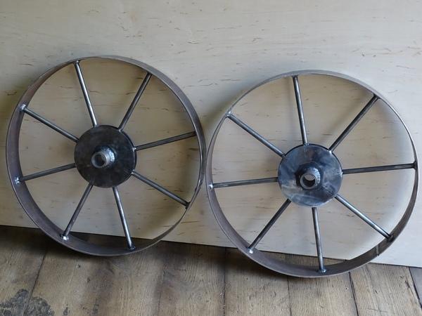 Самодельные колёса (грунтозацепы) для картофелесажалки .