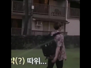 im not even gonna ask why jungkook just walked directly towards the sprinkler whilst actin