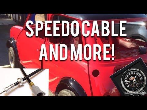 Classic Mini Restoration   Speedo Cable And More!