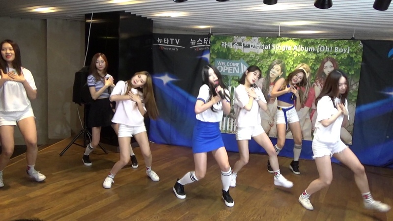 순수 신인 걸그룹 라미슈 쇼케이스 강남역 허브플라자 뉴타TV 2017 06 22일 hnh