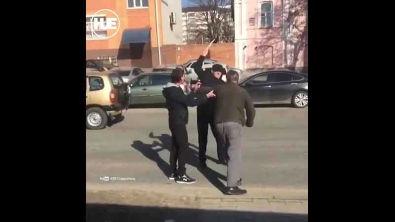 Жаркая драка на дороге в Ставрополе