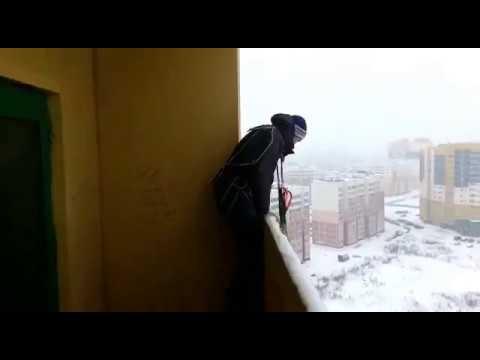 Прыжок с парашютом с жилого дома с сальто! РИСК-БЛАГОРОДНОЕ ДЕЛО (слабосердечным не смотреть)