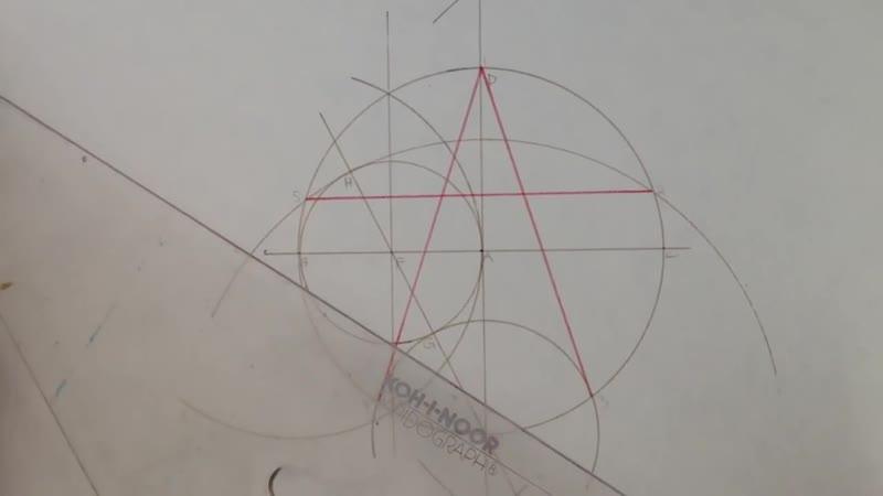 Pentagram Construction. (Построение Пентаграммы)