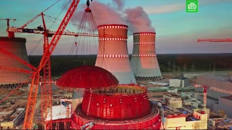 На ЛАЭС-2 установили защитный купол