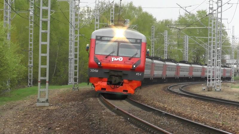 Электропоезд ЭД4М-0454 станция Подмосковная