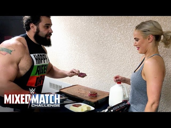 Rusev teaches Lana to eat like a monster for WWE MMC