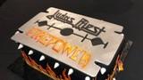 Custom cake presented to JUDAS PRIEST to celebrate FIREPOWER in Dallas Texas!