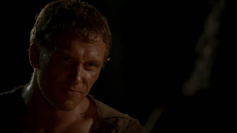 Сериал Рим. После поражения и перед смертью Помпея. Легионеры Тит и Луций на ночной стоянке
