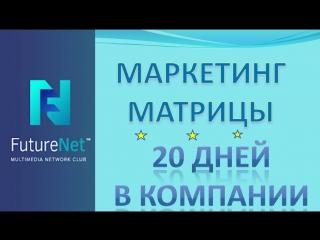 FUTURENET МАРКЕТИНГ МАТРИЦЫ ФЬЮЧЕРНЕТ 20ДНЕЙ В КОМПАНИИ