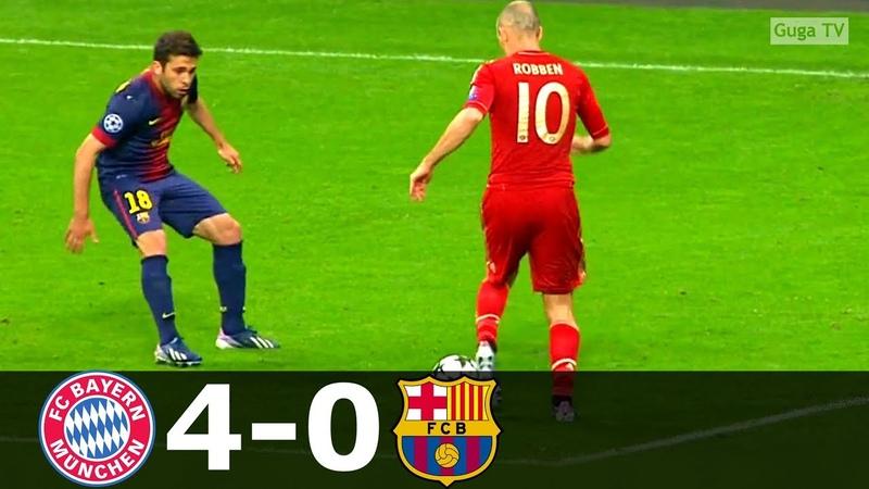 Bayern Munich vs Barcelona 4-0 - UCL 20122013 (1st Leg) - Highlights (English Commentary)