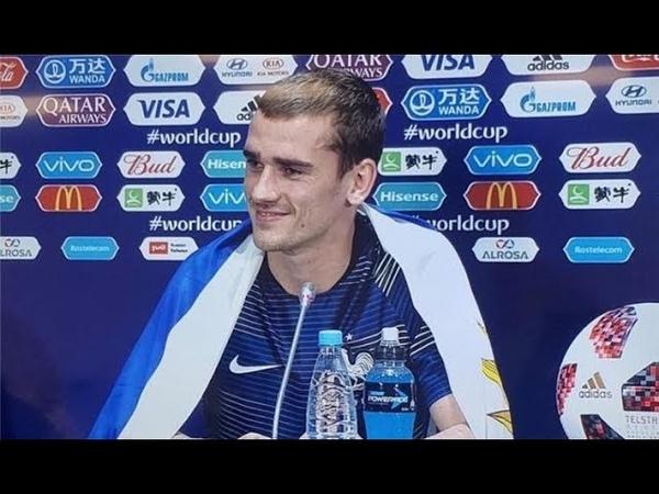 لماذا حضر جريزمان مؤتمر كأس العالم ملفوفا 16