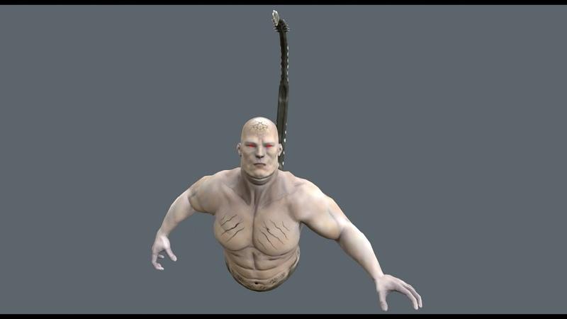 Creature Slider Mutant (Demo scene in Unity)