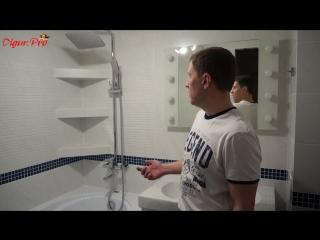 Ремонт ванной в Тамбове(Ул. Красноармейская). Обзор + отзыв Заказчика!