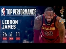 LeBron James Powers Cavs to 50th win of Season in MSG