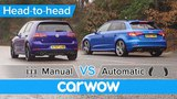 VW Golf R vs Audi S3 manual vs automatic DRAG RACE - what difference does the gearbox make