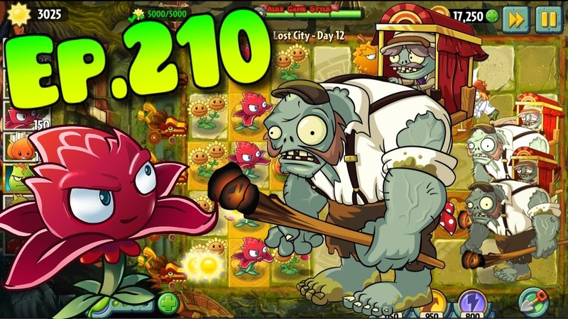 Plants vs. Zombies 2 || New Porter Gargantuar - Lost City Day 12 (Ep.210)