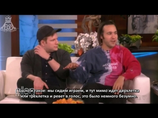 [rus sub] fall out boy interview on the ellen show