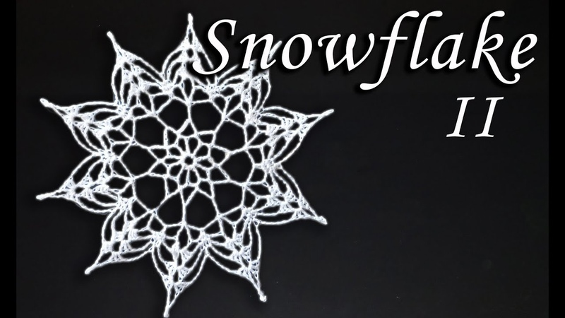 Schneeflocke häkeln Teil II | DIY DEKO für WEIHNACHTEN