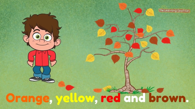 Orange, Yellow, Red and Brown - Seasons Songs for Kid - Kids Color Songs - By Th