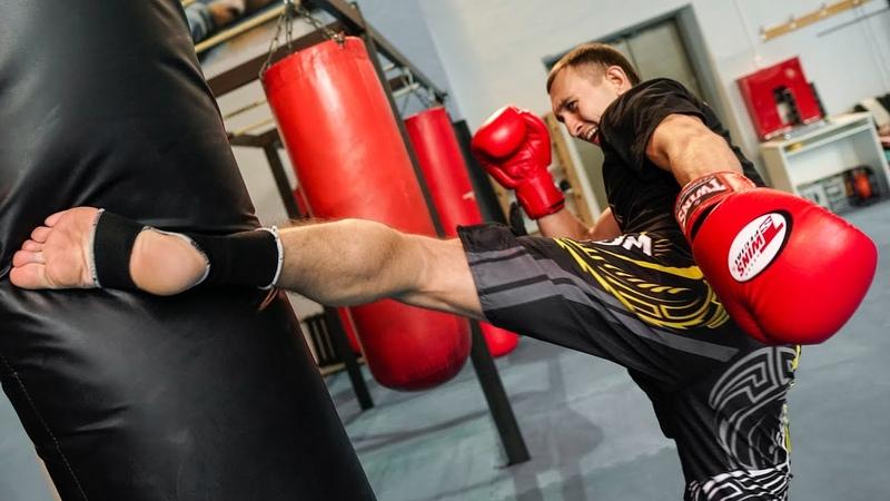 Мощный хай кик в связке с руками - Комбинации ударов в тайском боксе vjoysq [fq rbr d cdzprt c herfvb - rjv,byfwbb elfhjd d nfqc