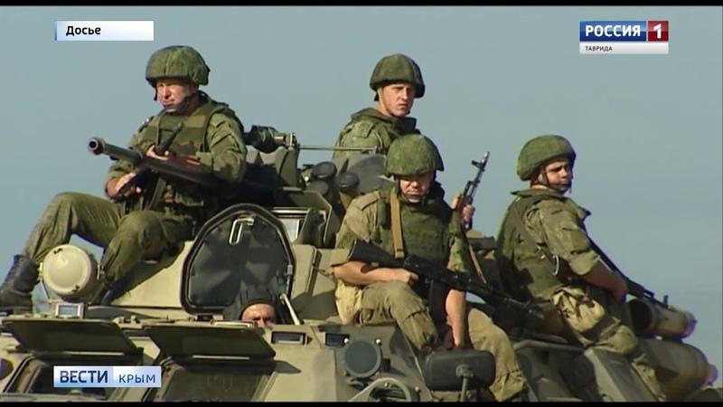 В Крыму прошли учения береговой охраны и морской пехоты