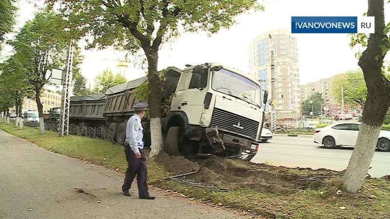 Зерновоз попал в ДТП в Иванове