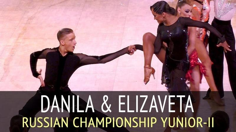 Данила Борискин - Елизавета Ульянова | Ча-ча-ча | Чемпионат России 2018, Юниоры-2
