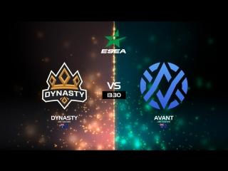 (RU) ESEA Open Season 28 Australia I Dynasty vs AVANT  I bo3 I by Holarious & c0sta