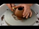 Обработка изделия на гончарном круге
