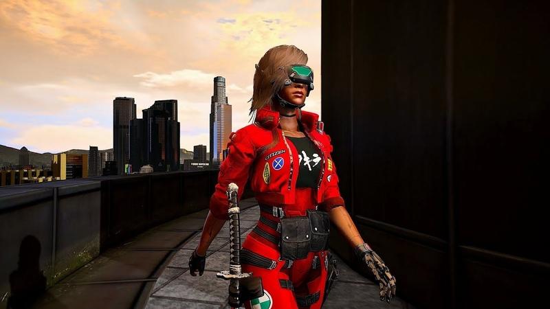 Cyberpunk-esque Custom Female Ped [Grand Theft Auto V] gta 5 mod VGTimes.Ru
