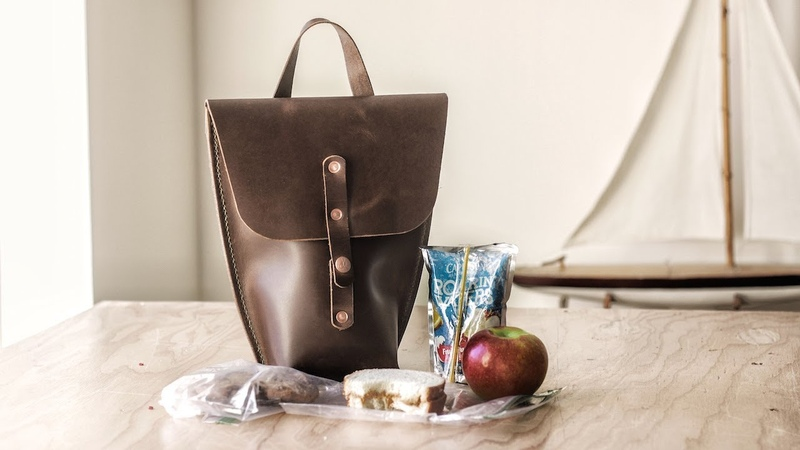 Making a Leather Lunch Bag