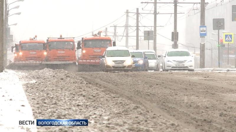 Гололёд и снегопад Череповец столкнулся с коммунальным авралом
