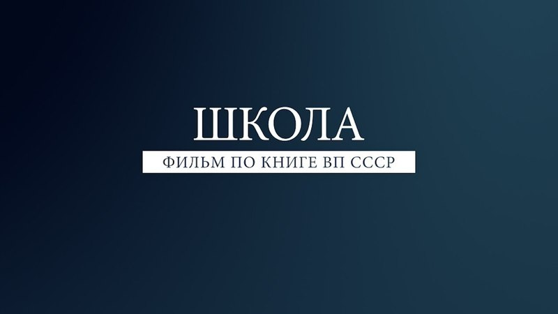 Нам нужна иная школа По книге ВП СССР