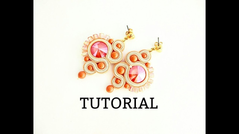 TUTORIAL ORECCHINI SUNRISE , collab. PerlineBijoux , soutache semplice , easy soutache tutorial