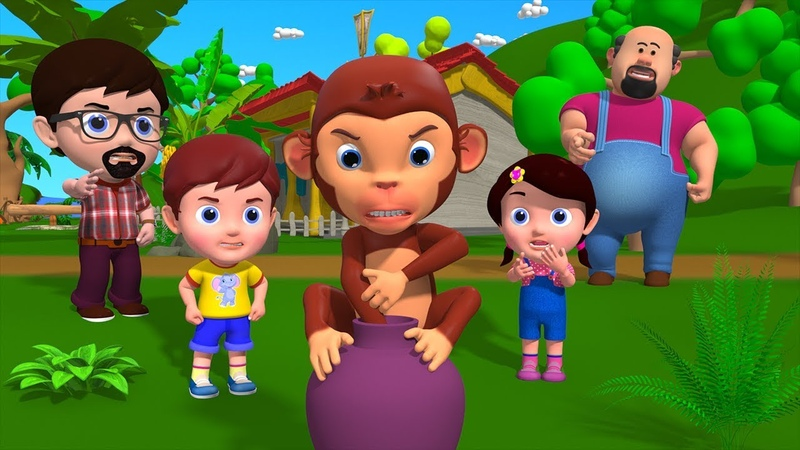 Moral Stories For Kids In English Greedy Monkey 3d animated bedtime fairy tales for children