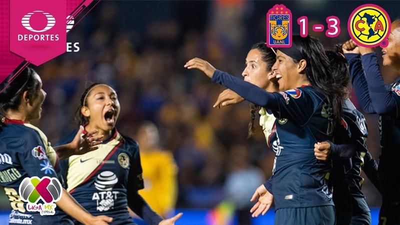 Mexico I América se corona en la Liga MX Femenil | Tigres 1 (1) - (3) 1 América | 2018