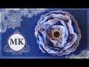 Резинки для волос Цветы канзаши МК DIY Kanzashi Scrunchy with flowers