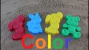 Learn Colors for Children sand molds Finger Family Song Nursery Rhymes dog bear squirrel