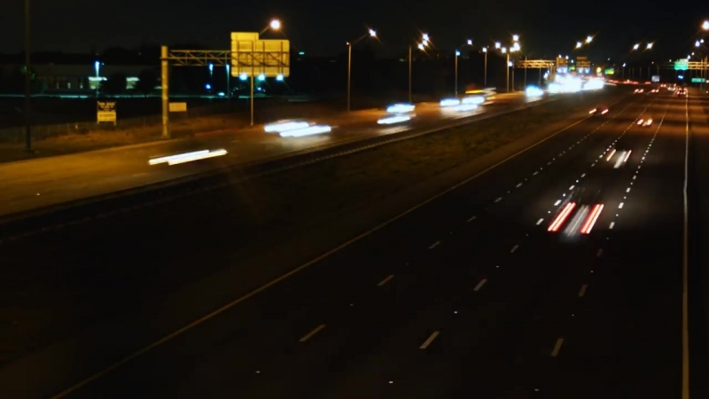 Скоростное шоссе _ Freeway time lapse