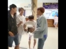 Remember when jongdae the clown thought jumping whilst holding a cup of coffee was a good