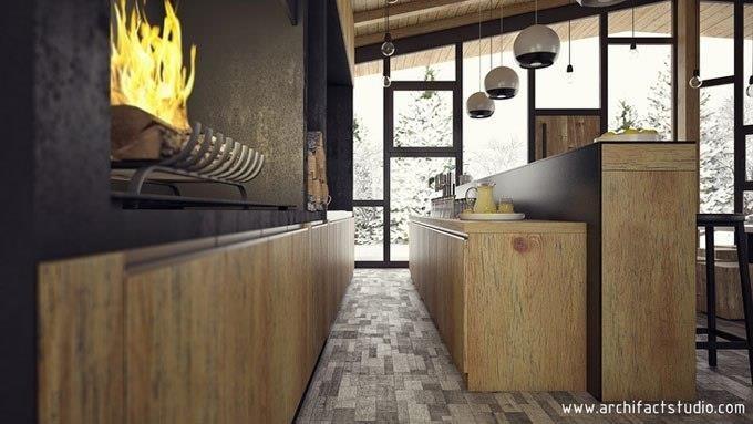 Специалисты из сербской дизайн-студии ARCHIFACT спроектировали это кафе, которое называется Ski Caffe Stara Planina.