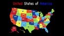 Песня про 50 штатов америки На Английском Подтяни знания по географии и английскому
