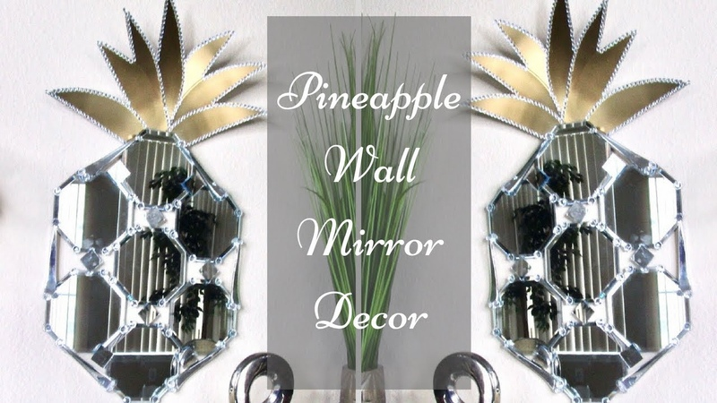 Diy Mirror Pineapple Wall Decor| Simple and Inexpensive Wall Mirror Idea!