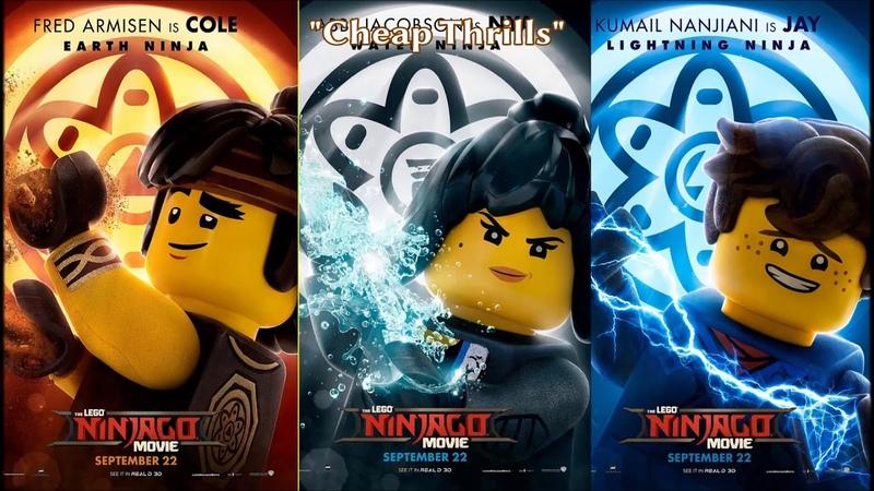 Ninjago - Cheap Thrills - Trio Cole, Jay and Nya
