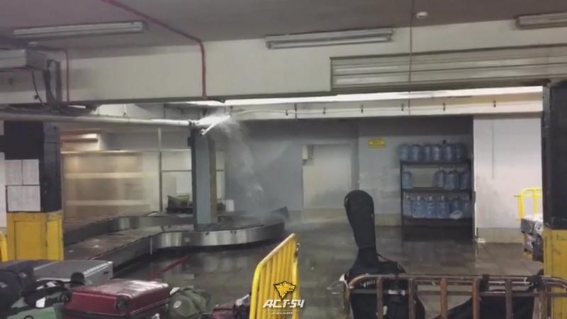 Потоп в багажном отделе Толмачёво